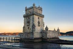 Torre de Belem UNESCO światowego dziedzictwa historii Celowniczy Europejski łuk obrazy stock