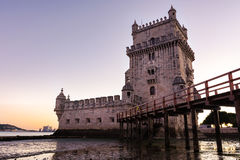 Torre de Belem UNESCO World Heritage Sight European History Arch. Itectural Landmark Lisbon Portugal Stock Image