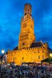 Torre de Belfort, Bruges, Bélgica Foto de Stock Royalty Free