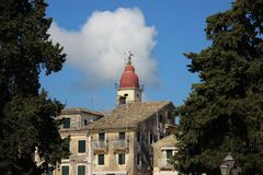 Torre de Bell com opini?o da cidade e constru??o hist?rica velha imagens de stock