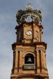 Torre de Bell da catedral de Puerto Vallarta Imagem de Stock Royalty Free
