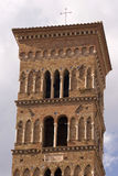 Torre de Bell da catedral de St. Cesareo imagens de stock