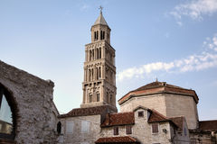 Torre de Bell da catedral do St. Duje. Fotografia de Stock