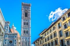 Torre de Bell da catedral em Florença, Itália Fotografia de Stock
