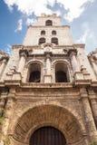 Torre de Bell da igreja de San Francesco em Havana velho Imagem de Stock