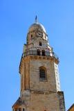 Torre de Bell de la abadía de Dormition, Jerusalén Fotos de archivo