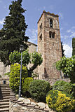 Torre de Bell de Sant Pere de Vilamajor, Espanha fotografia de stock royalty free