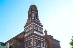 Torre de Bell dentro de Poble Espanyol em Barcelona, Catalonia, Espanha Imagem de Stock Royalty Free