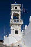 Torre de Bell en Imerovigli Imágenes de archivo libres de regalías