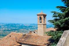 Torre de Bell en San Marino fotografía de archivo