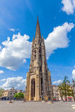 Torre de Bell gótico alta de Catherdal, Bordéus Fotos de Stock Royalty Free
