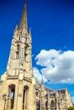 Torre de Bell gótico alta de Catherdal, Bordéus Imagem de Stock