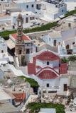 Torre de Bell Lindos da igreja Rhodes Greece fotos de stock royalty free