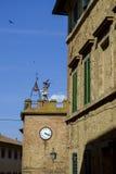 Torre de Bell, montepulciano, província de Siena, Toscânia, Italia imagem de stock