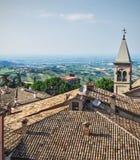 Torre de Bell que negligencia São Marino Fotos de Stock