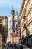 Torre de Bell São Nicolau em Praga, Imagens de Stock