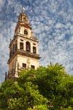 Torre de Bell (Torre de Alminar) da catedral de Mezquita (o Gre Fotografia de Stock