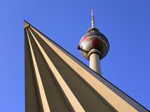 Torre de Berlín TV imagenes de archivo