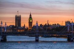 Torre de Big Ben y abadía de Westminster Imágenes de archivo libres de regalías