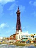 Torre de Blackpool & frente marítima, novembro Imagens de Stock