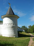 Torre de Boris e de monastério de Gleb na cidade de Dmitrov Fotos de Stock