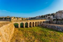 A torre de Bourtzi, Methoni, Peloponnese, Grécia Imagens de Stock
