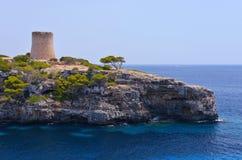 Torre de Cala pi i Mallorca Arkivfoto