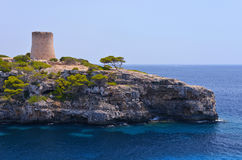 Torre De Cala PU in Mallorca Stockfoto