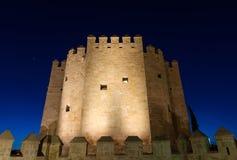 Torre de Calahorra em Roman Bridge em Córdova Fotos de Stock