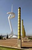 Torre De Calatrava in Olimpic Park in Barcelona Stock Photography