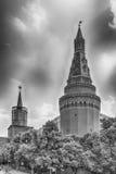 A torre de canto cênico de Arsenalnaya do Kremlin de Moscou, Russi Fotografia de Stock