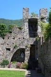 Torre de Castelo Castello di Vezio perto de Varenna no lago Como, lago Como, Lombardy Foto de Stock