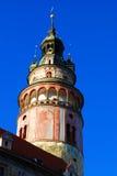 Torre de Cesky Krumlov fotografía de archivo libre de regalías