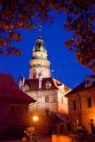 Torre de Cesky Krumlov Bell Fotografia de Stock
