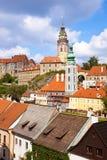 Torre de Cesky Krumlov Bell Fotos de Stock