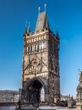 Torre de Charles Bridge en Praga Imagen de archivo