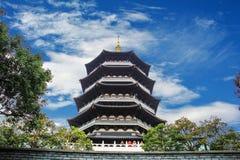Torre de China ZheJiang HangZhou LeiFeng imagens de stock