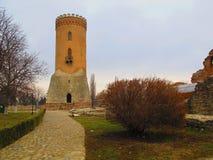 Torre de Chindia en Targoviste, Rumania Imagen de archivo