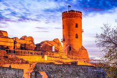 Torre de Chindia, Targoviste, Rumania Imagen de archivo libre de regalías