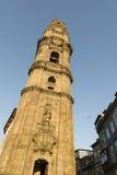 Torre de Clerigos en Oporto Imágenes de archivo libres de regalías