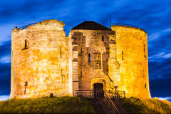 Torre de Clifford, York, Inglaterra fotografía de archivo