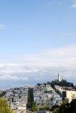 Torre de Coit en la colina del telégrafo Foto de archivo