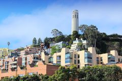 Torre de Coit, San Francisco foto de stock royalty free