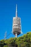 Torre de Collserola a Barcellona Fotografia Stock Libera da Diritti