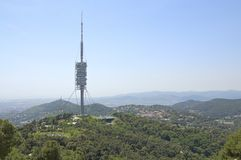 Torre de Collserola Barcelona. Royalty Free Stock Photography