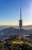 Torre de Collserola - Fernsehturm in Barcelona, Spanien Lizenzfreies Stockfoto