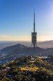 Torre de Collserola - torre della TV a Barcellona, Spagna Fotografia Stock Libera da Diritti