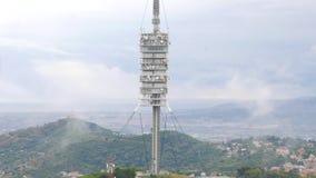 Torre DE Collserola, van Telecommunicatie Barcelona Toren stock footage