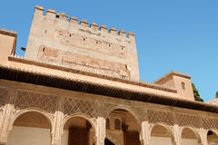 Torre de Comares em Granada Fotos de Stock Royalty Free