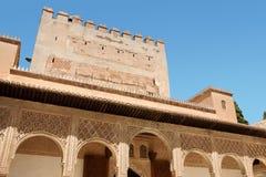 Torre de Comares en Granada Fotos de archivo libres de regalías